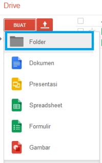 buat folder untuk menyimpan file-file anda